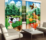 Závěs Dimex Forest Animals CU-280-030 | 280 x 245 cm