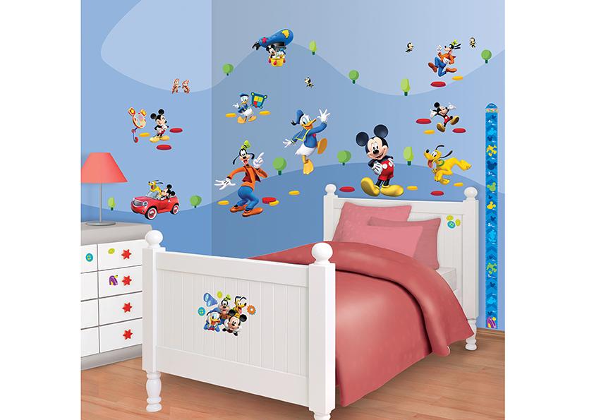 Samolepicí dekorace Walltastic Mickey 34 x 46 cm 41488 (Dětské samolepicí dekorace)