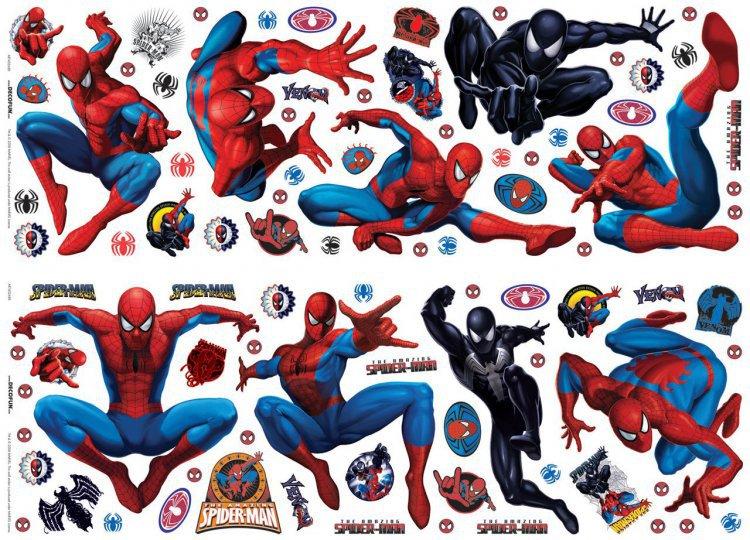Nálepky na zeď 24 ks Spiderman D23869 (Dekorativní samolepky pro děti)