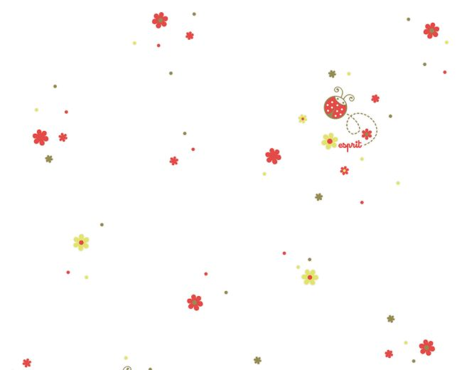 Dětská tapeta Esprit Kids 3 2192-20 (Červená, bílá)