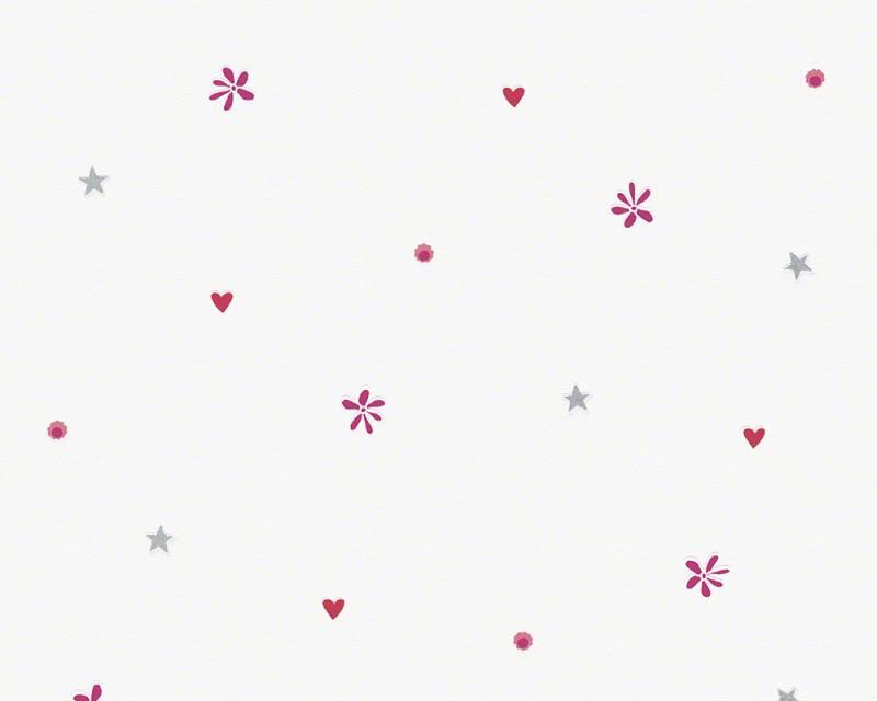Dětská tapeta Esprit Kids 3 94128-3 (Bílá, růžová, červená)