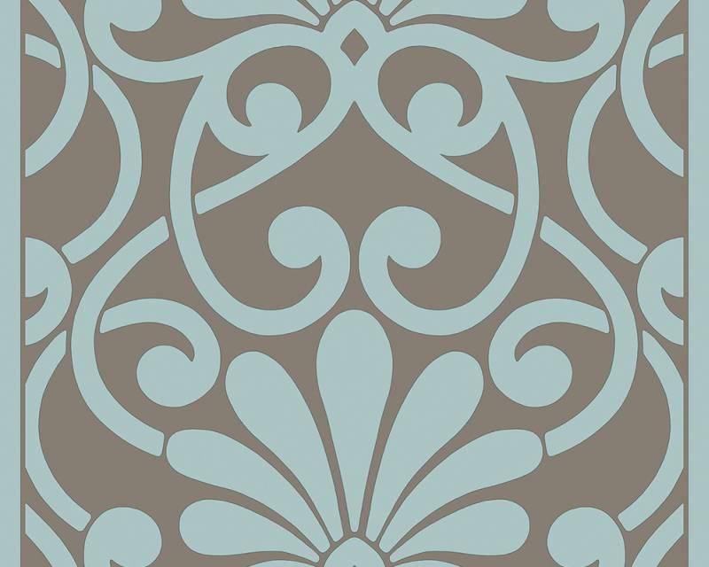 Samolepicí panel Pop Up 94218-1 (0,35 x 2,5 m - tyrkysová, hnědá)