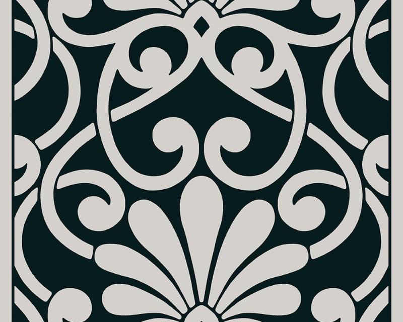 Samolepicí panel Pop Up 94218-2 (0,35 x 2,5 m - šedá, černá)