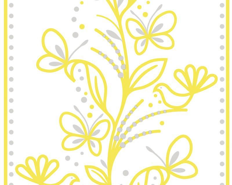 Samolepicí panel Pop Up 94228-1 (0,35 x 2,5 m - bílá, žlutá, stříbrná)