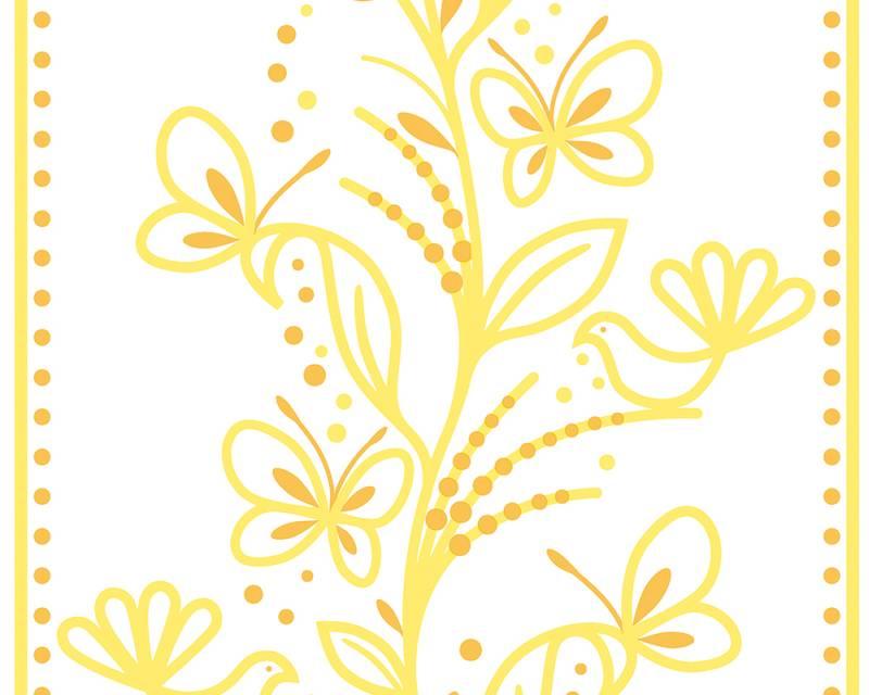 Samolepicí panel Pop Up 94228-2 (0,35 x 2,5 m - bílá, žlutá, oranžová)