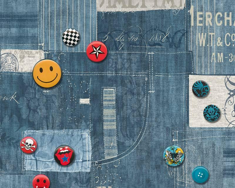 Samolepicí panel Pop Up 94229-1 (0,35 x 2,5 m - modrá, barevná)