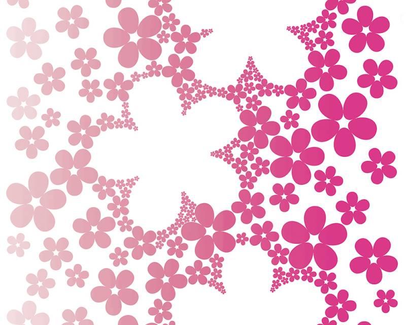 Samolepicí panel Pop Up 94233-1 (0,35 x 2,5 m - bílá, růžová)
