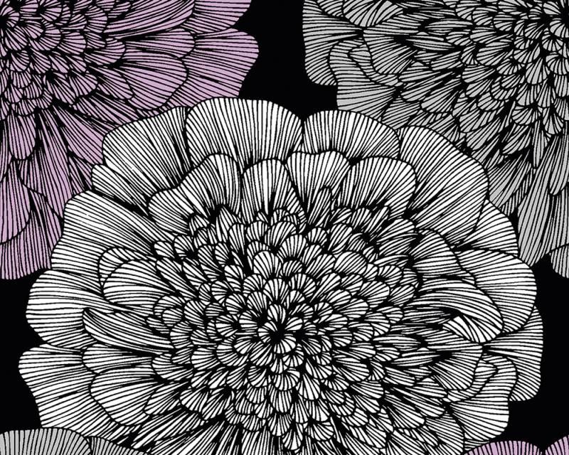 Samolepicí panel Pop Up 94248-1 (0,35 x 2,5 m - černá, fialová, šedá)