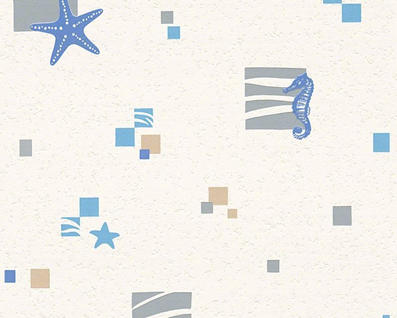 Vinylové tapety na zeď Cocktail 93696-1 (Béžová, modrá)