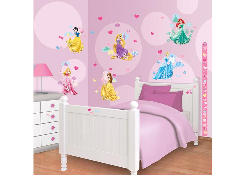 Samolepicí dekorace Walltastic Princezny 34 x 46 cm 41455 (Dětské samolepicí dekorace)