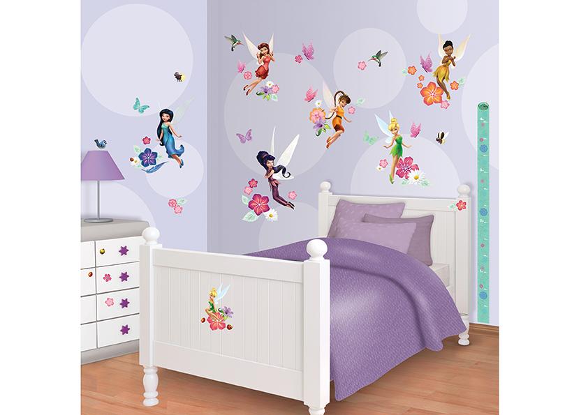 Samolepicí dekorace Walltastic Fairies 34 x 46 cm 41462 (Dětské samolepicí dekorace)