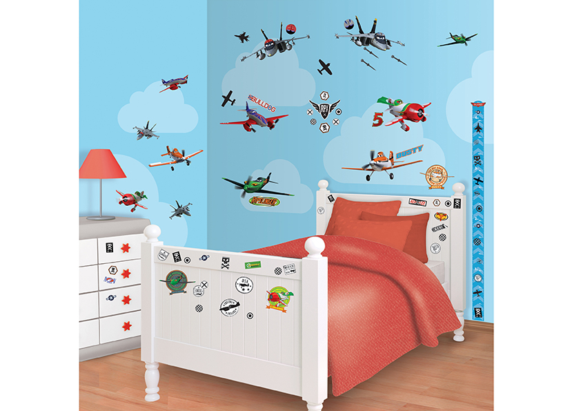 Samolepicí dekorace Walltastic Letadla 34 x 46 cm 41493