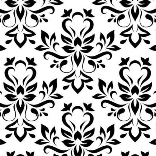 Samolepicí tapeta Černobílý ornament 15-6320 (Samolepicí fólie | 45 cm x 15 m)
