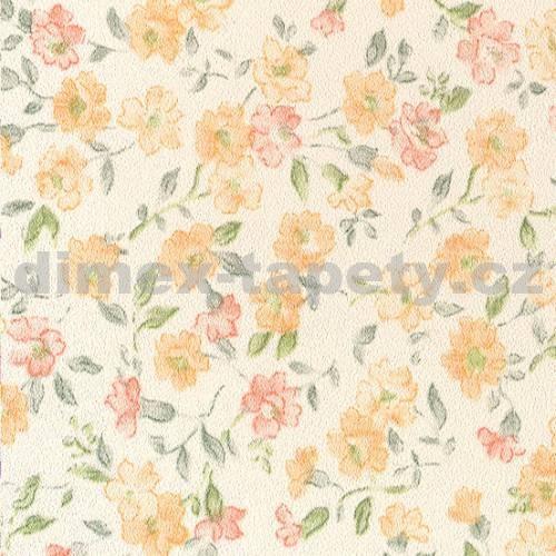 Samolepicí tapeta Orange Flowers 15-6840 (Samolepicí fólie | 45 cm x 15 m)