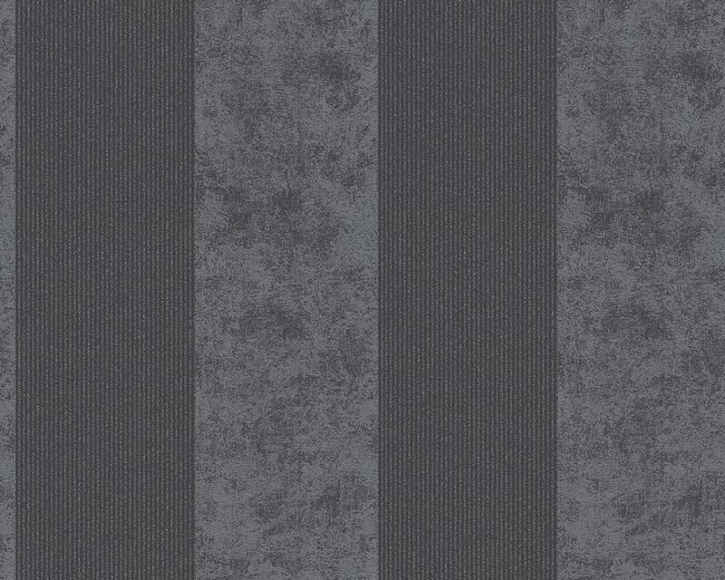 Vliesová tapeta Memory 95373-4 (Šedá, černá)