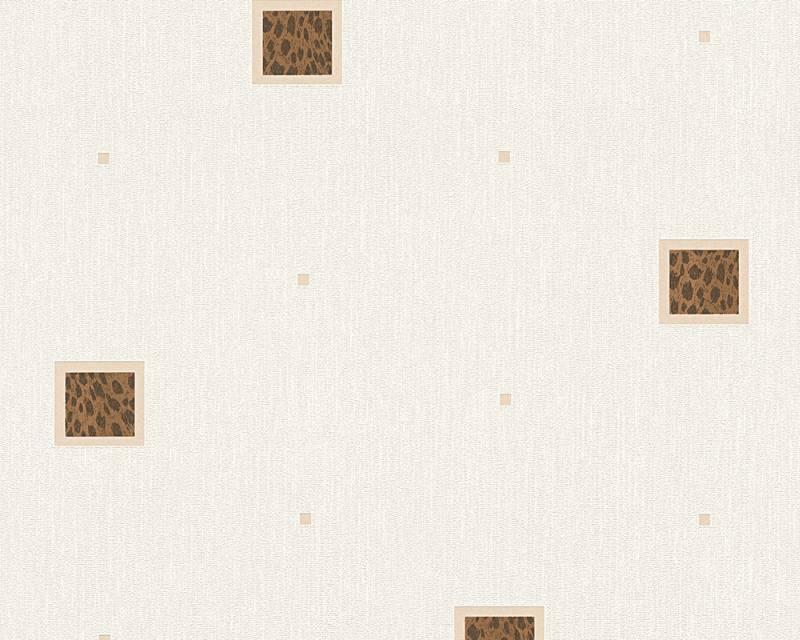 Tapeta A.S. Création Bahamas 94164-1 | 0,53 x 10,05 m (Vinylová tapeta na zeď - béžová, hnědá)
