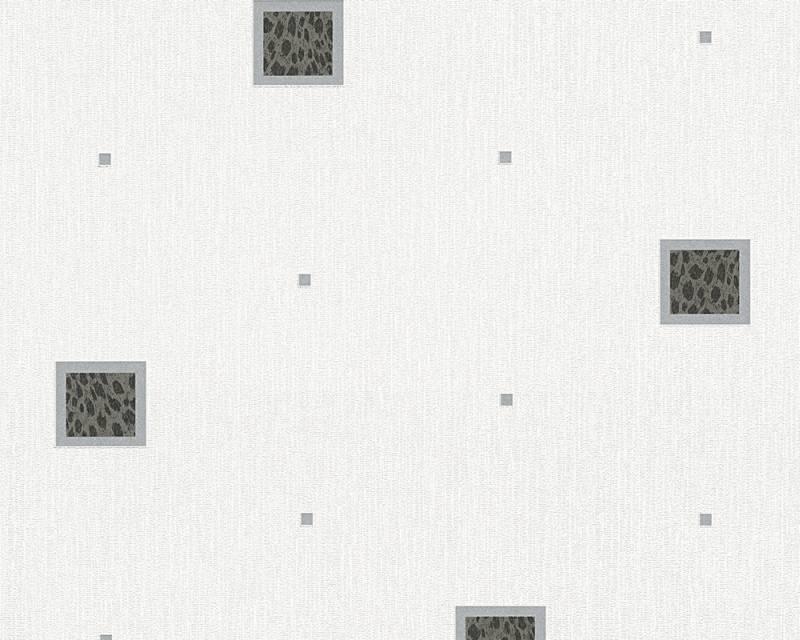 Tapeta A.S. Création Bahamas 94164-2 | 0,53 x 10,05 m (Vinylová tapeta na zeď - černá, bílá)