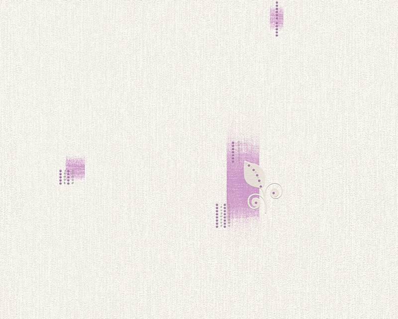 Tapeta A.S. Création Bahamas 95620-1 | 0,53 x 10,05 m (Vinylová tapeta na zeď - béžová, fialová)
