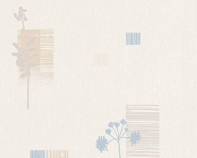 Tapeta A.S. Création Bahamas 95622-2 | 0,53 x 10,05 m (Vinylová tapeta na zeď - béžová, modrá)