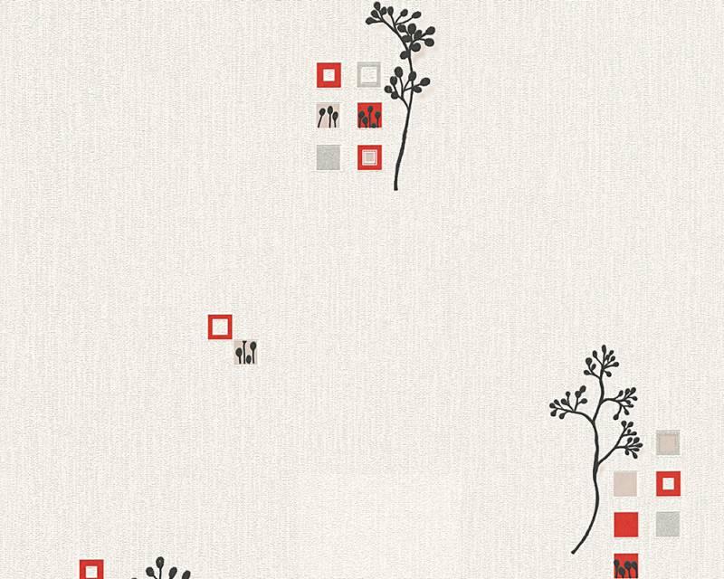 Tapeta A.S. Création Bahamas 95623-1 | 0,53 x 10,05 m (Vinylová tapeta na zeď - červená, černá)