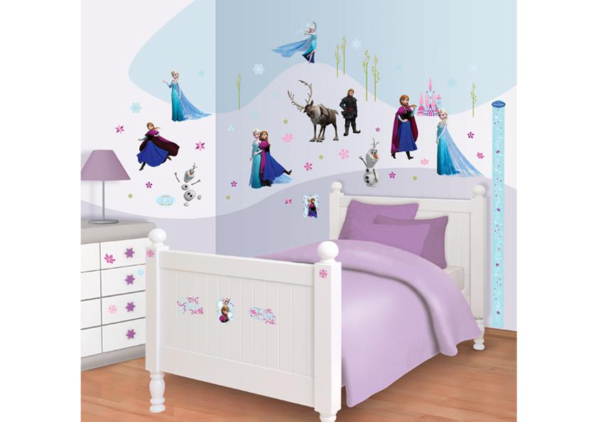 Samolepicí dekorace Walltastic Ledové království 34 x 46 cm 41080 (Dětské samolepicí dekorace)