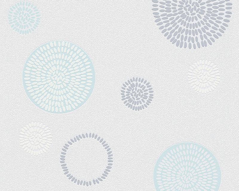 Tapeta A.S. Création Dimex 95800-2 | 0,53 x 10,05 m (Vliesová tapeta - bílá, modrá, šedá)