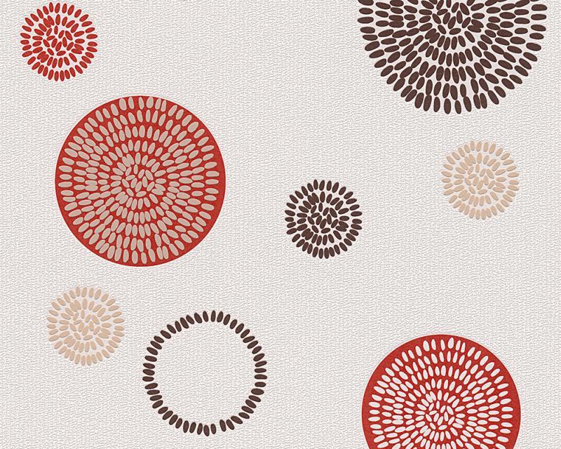 Tapeta A.S. Création Dimex 95800-3 | 0,53 x 10,05 m (Vliesová tapeta - béžová, hnědá, červená)