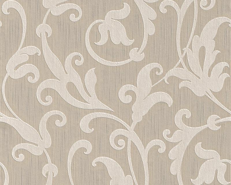 Tapeta A.S. Création Tessuto 95490-1   0,53 x 10,05 m (Textilní tapeta - béžová, lesklá)