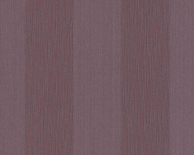 Tapeta A.S. Création Tessuto 95660-1 | 0,53 x 10,05 m (Textilní tapeta - tmavě fialové pruhy)