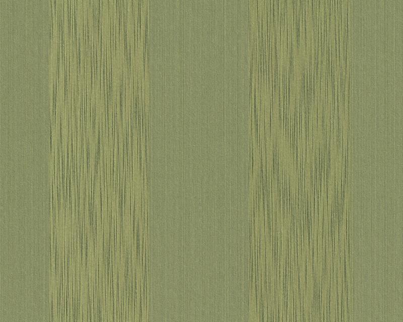 Tapeta A.S. Création Tessuto 95660-4 | 0,53 x 10,05 m (Textilní tapeta - zelené pruhy)