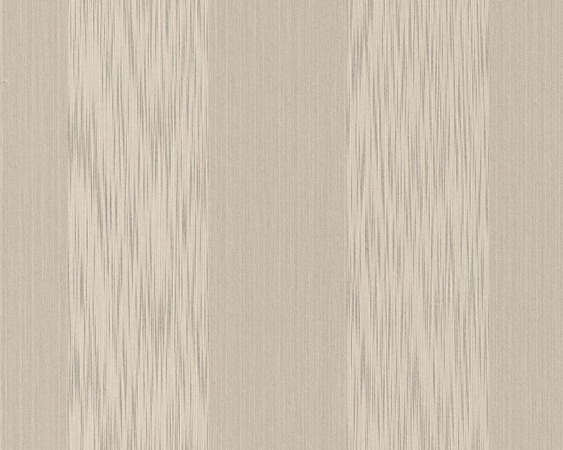 Tapeta A.S. Création Tessuto 95660-6 | 0,53 x 10,05 m (Textilní tapeta - béžovo-šedé pruhy)