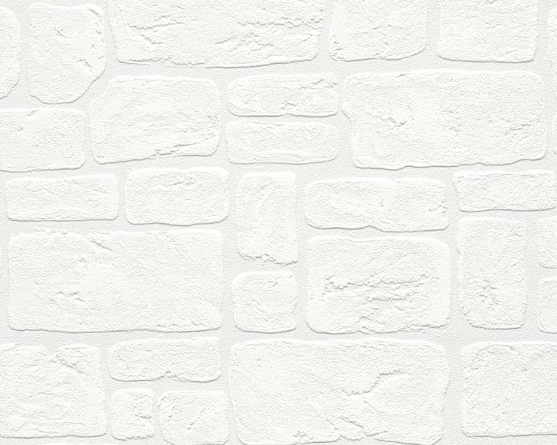 Tapeta na zeď A.S. Création Dekora 2040-42 | 0,53x10,05m (Vinylová tapeta - bílá cihla)