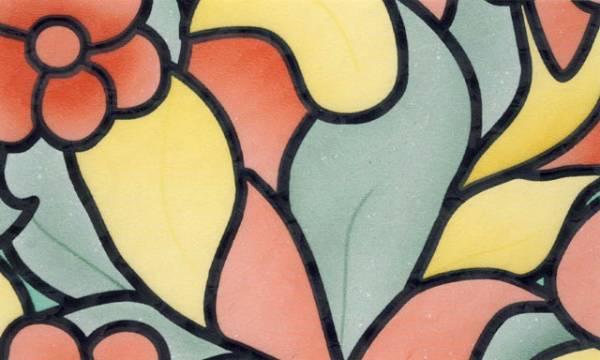 Samolepicí tapeta BAREVNÉ KVĚTINY - šíře 45 cm (Samolepicí fólie | 45 cm x 15 m)
