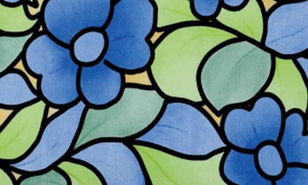 Samolepicí tapeta MODRÉ KVĚTINY - šíře 45 cm (Samolepicí fólie | 45 cm x 15 m)