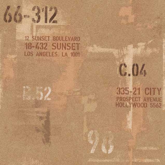 Tapety na zeď Rasch Spirit 593310 | 0,53x10,05m (Vliesová tapeta - oranžová s nápisy)