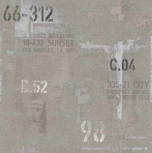 Tapety na zeď Rasch Spirit 593334 | 0,53x10,05m (Vliesová tapeta - šedá s nápisy)