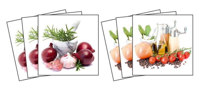 Samolepicí dekorace Spice Herbs TI-001 (Dekorativní čtverce 15 x 15 cm)