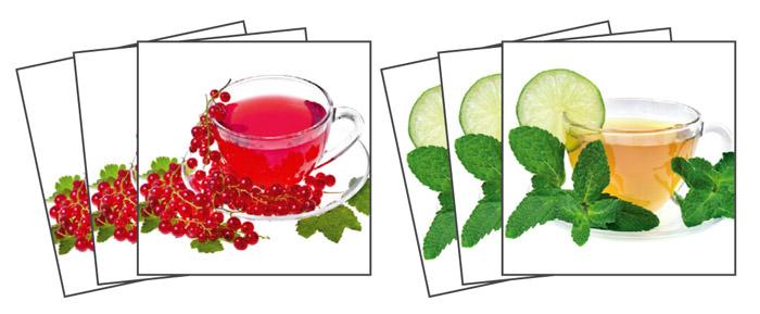 Samolepicí dekorace Cup of Tea TI-002 (Dekorativní čtverce 15 x 15 cm)