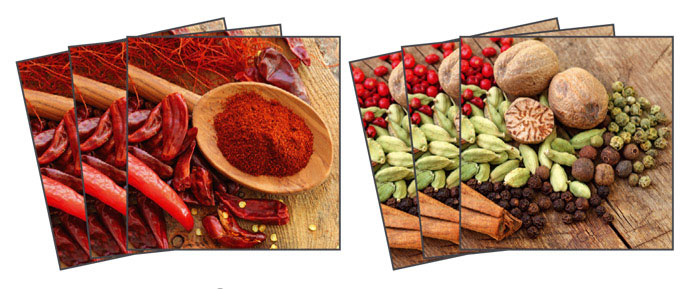 Samolepicí dekorace Chilli Pepper TI-005 (Dekorativní čtverce 15 x 15 cm)