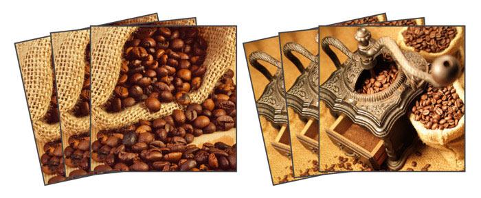 Samolepicí dekorace Coffee TI-007 (Dekorativní čtverce 15 x 15 cm)
