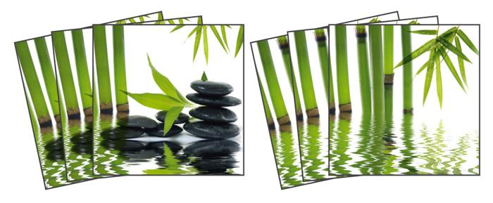 Samolepicí dekorace Zen TI-012 (Dekorativní čtverce 15 x 15 cm)