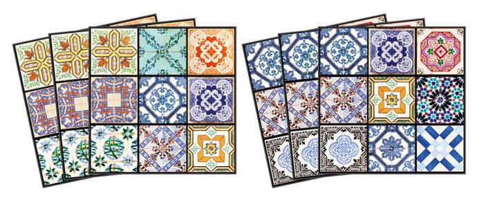 Samolepicí dekorace Vintage TI-018 (Dekorativní čtverce 15 x 15 cm)