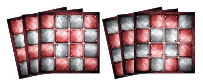 Samolepicí dekorace Metal TI-019 (Dekorativní čtverce 15 x 15 cm)