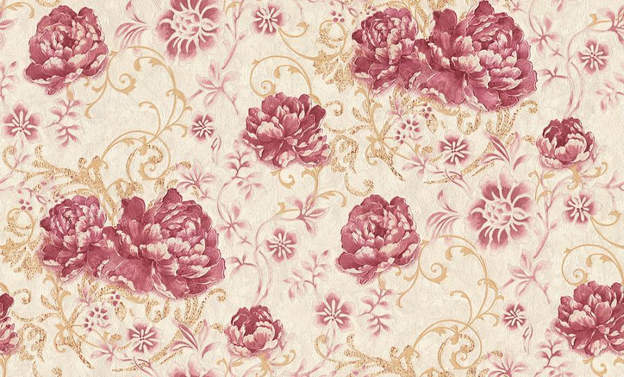 Tapety na zeď Temptation 95968-4 (Vliesové tapety - růžová, zlatá, béžová)