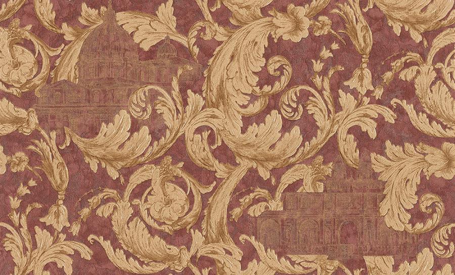 Tapety na zeď Temptation 95969-7 (Vliesové tapety - zlatá, vínová)