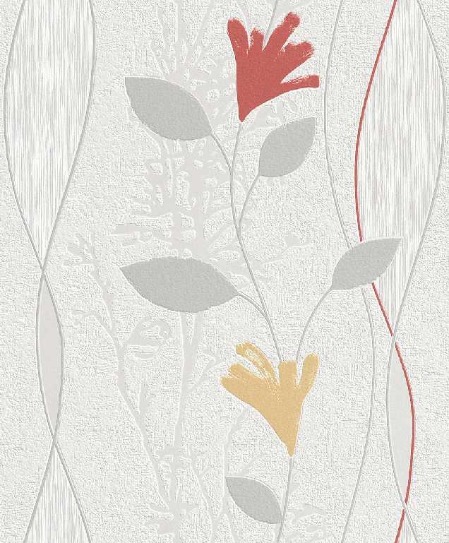 Tapety na zeď Your Season 435313 (Vliesová tapeta - bílá, šedá, oranžová, červená)