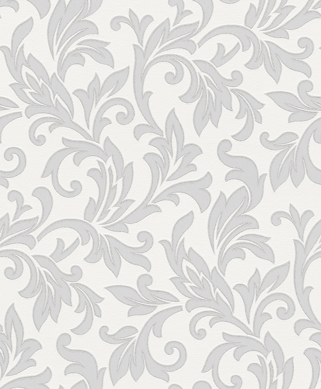 Tapeta na zeď Rasch Shiny Chic 309812 | 0,53 x 10,05 m (Vinylová tapeta - bílá, šedá)