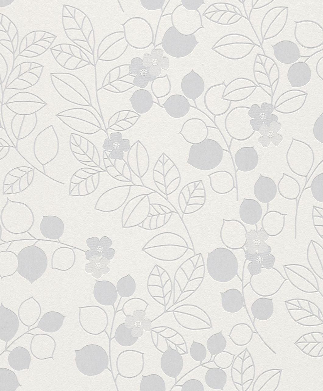 Tapeta na zeď Rasch Shiny Chic 309904 | 0,53 x 10,05 m (Vinylová tapeta - bílá, šedá)