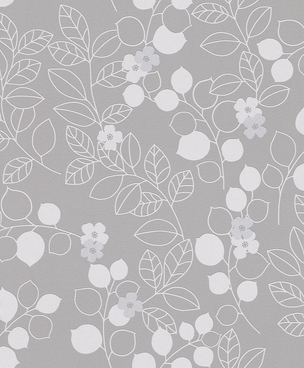 Tapeta na zeď Rasch Shiny Chic 309911 | 0,53 x 10,05 m (Vinylová tapeta - šedá, stříbrná)