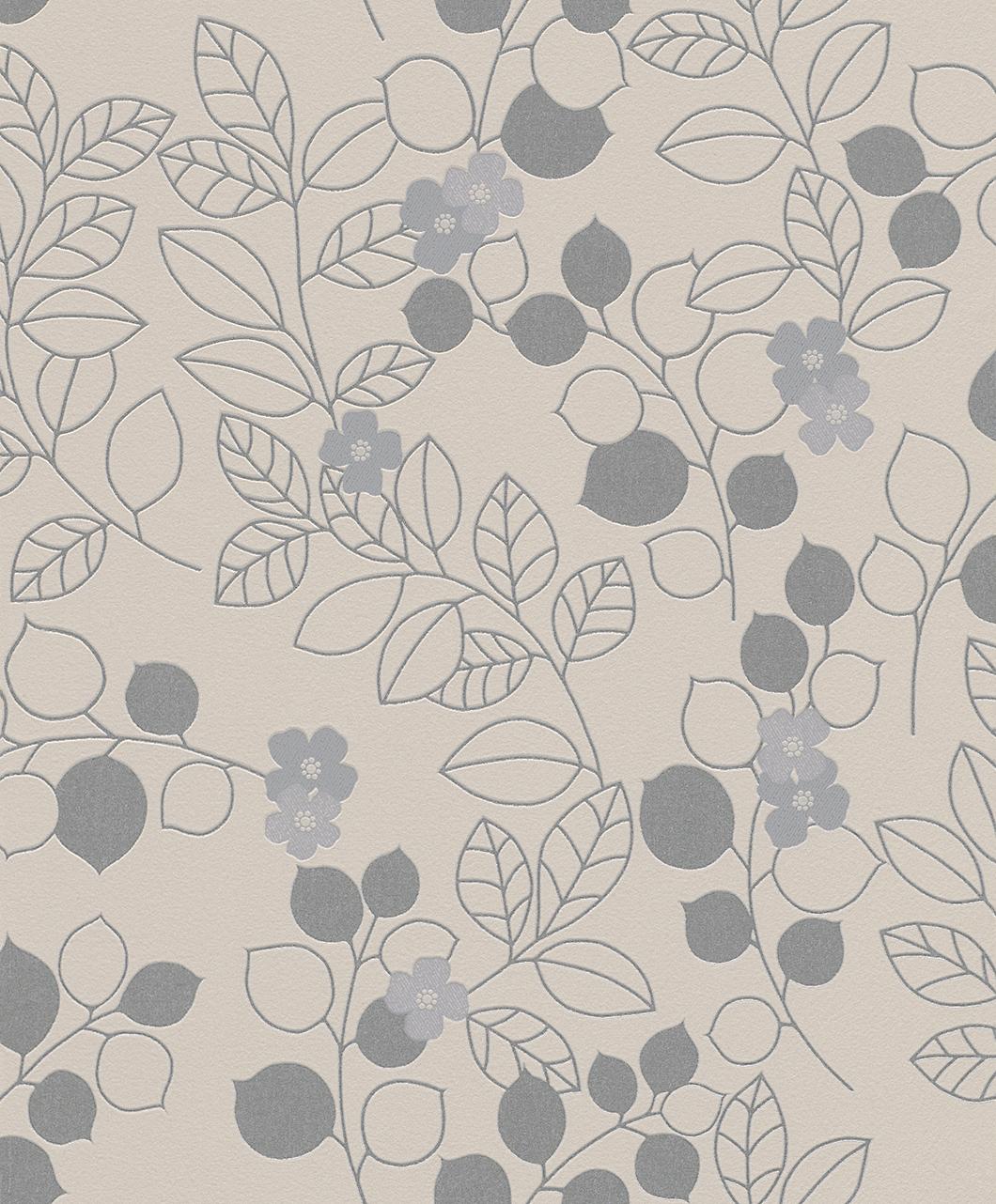 Tapeta na zeď Rasch Shiny Chic 309928 | 0,53 x 10,05 m (Vinylová tapeta - šedá, stříbrná)